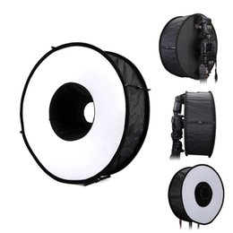 """Wholesale Diffuser For Flash - 18"""" 45cm Round Universal Collapsible Magnetic Ring Flash Diffuser Soft Box for Canon, Nikon, Yongnuo, Sony(Simplified Version)"""