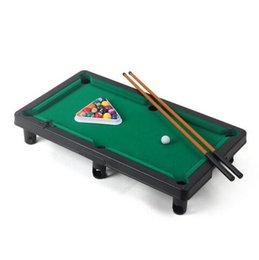 Wholesale Mini Snooker - New Kids Educational Sport Mini American Pool Table 2 Players Outdoor Games Toys Billiard Snooker Game Children Play Toy Sports
