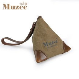 Wholesale Purses For Teenagers - Wholesale- Muzee Canvas Coin Bag suit for Keys and Coin Cute Coin bag for Teenagers Male&Female Gift Bag