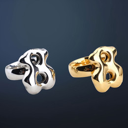 Wholesale Stainless Steel Gold Plated Rings - TL stainless steel bear ring two colors four sizes gold plated unique design brand jewelry 2017