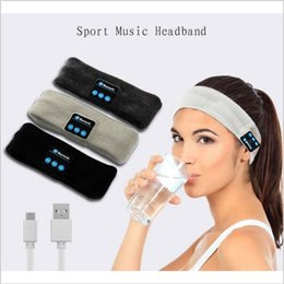 Wholesale music bands - bluetooth Earphone For Iphone 7 Handband Edge Yoga Hat Sport Cap Headset Wireless Hand Band Earplug Music Player Handphone 100 PCS YYA578