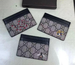 Wholesale Genuine Leather Clutch Bags - 2017 leather fashion g card holders wallets famous women men Quilted Genuine Leather day clutch evening bag ladies party g purse wallet
