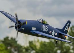 Wholesale Airplane Gas - Wholesale- Flightline Freewing rc airplane warbird 1.2m F8F Bearcat PNP,PNP without ESC,KIT ,radio control model