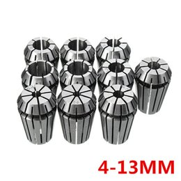 Wholesale Lathes Milling Machines - 10pcs ER20 4-13mm Spring Collet Chuck Set For CNC Milling Machine Engraving Lathe Tool