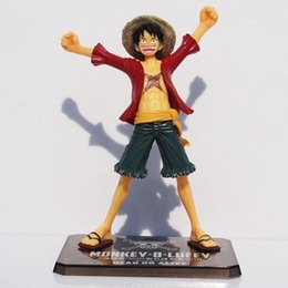 Wholesale Boxed Action Figures - Japaness Anime Cosplay One Piece Monkey Luffy Action Figures Model Collection 15cm Two Years Later Kids With Box Free Shipping