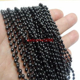 wholesale steel balls 3mm Coupons - On sale 5meter of Lot 3mm  2.4mm Black Color Round Beads Ball Chain Stainless Steel Jewelry Finding   Marking Chain DIY