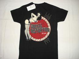 Wholesale Pinup Shirt - SOCIAL DISTORTION 1979 SXDX NEW T-SHIRT S M L XL 2XL 3XL PUNK ROCK SEXY PINUP GIRL Short Sleeve Hip Hop Tee T Shirt