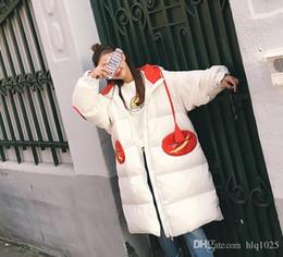 Wholesale Long Bear Parka - 2016 Winter Soft Long Women Down Parka Cute Bear Plus Size Women Down Jacket With Pockets Free Shipping