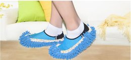 Wholesale Cleaning Suit - 2Pcs pair Useful Sweep floor uncovered lazy drag overshoes clean slippers suit Clean mop caps uncovered shoe covers clean