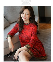 Wholesale Cheongsam Sequin - Spring new cheongsam dresses in the long paragraph deerskin loose a word Chinese wind retro women
