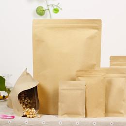 Wholesale Compound Bag - 100 pcs High-grade Thicken Kraft Paper Ziplock Bag Moistureproof Compound Aluminum Foil Bone Food Packaging Bags