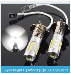 Wholesale H3 Led 5w - 100X H3 5630 10SMD LED Fog Lamp Bulb Super Bright White Light 12V 5W 6000K Car External Light Source
