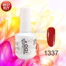Wholesale Gel Nail Polish Ido - Wholesale- 6pcsNew varnishes gel nail UV Gel Nail Polish 199colors 15ml 0.5oz IDO (4colors+1top+1base) UV kit varnishes nail gel polish