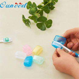 Wholesale Travel Toothbrush High Quality - Wholesale- Home Wider Hot Selling 5 Piece Set Portable Travel Toothbrush Cover Wash Brush Cap Case Box Drop Shipping High Quality New