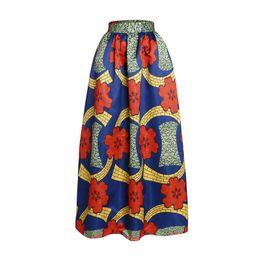 Wholesale Vintage Alta - Fashion High Waisted Skirts Womens Vintage African Print Long Maxi Skirt For Women Autumn Saia Longa Cintura Alta