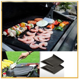 Wholesale Sticky Surfaces - BBQ Grilll Mat Barbecue Pad Make Grilling Easy Non Sticky Barbecues Mats Outdoors Creative Cushion Hot Sale 16xz