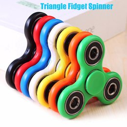 Wholesale Top Outlet Wholesale - Factory Outlet Fidget Spinner Toys Hand Spinners Top ABS EDC Spiral Triangle 608Gearing Finger Tip Decompression Anxiety Rollover Plush Toy