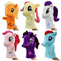 Wholesale Little Girls Toys - Hot 1pcs 27cm Anime Hand Puppets For Kids Cute My Little lovely horse Hand Puppets high quality Early Childhood Education Toy