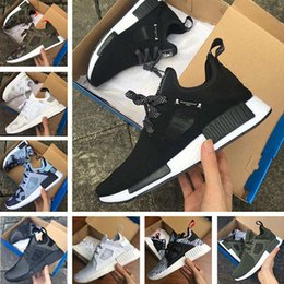 Wholesale Camo Blue - 2017 NMD XR1 III Running Shoes Mastermind Japan Skull Fall Olive green Glitch Black White Blue Camo Pack men womens sports shoes 36-44