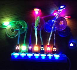 led câble smiley Promotion Lumière LED Visible Micro USB V8 Câble Chargeur 1M Smiley Éclairage Noodle Streamer Data Sync Cordon De Charge Ligne pour Samsung S6 S7 Bord Huawei