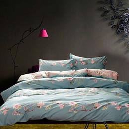 Wholesale floral sheet sets - Riho 4-Piece Pima Cotton Rural Floral Rose Elegant Comfortable Bedding Sets Bedding Sheets Bed in a Bag(Huajing)