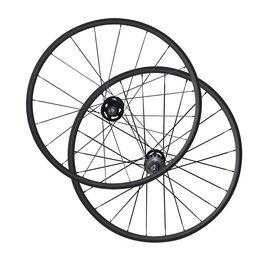 Wholesale Road Track Bike - Flip flop Single Speed carbon fiber bicycle wheels 700C 24mm Clincher Tubular carbon track wheelset 3K Matte Fix Gear Wheels