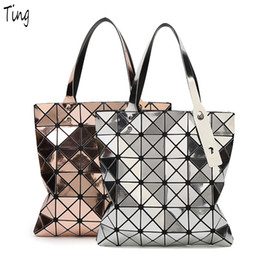 Wholesale Holographic Bags - Wholesale-japanese BaoBao women holographic Top-handle bags 2016 famous luxury brand handbags designer with logo ladies Shoulder hand bags