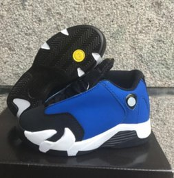 Wholesale Cheap Size 14 Basketball Shoes - Cheap Retro 14 XIV Oxidized Green Kids Basketball Shoes Retro 14 Laney Sneakers For Boys Girls Size 28-35