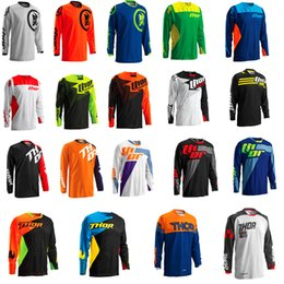 Wholesale Race Wear Shirts - Polyester Men Motorcycle Motocross Racing DH Downhill MX MTB Free T shirt Jersey Jerseys Cycling Wear Clearance Sale