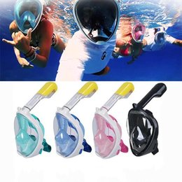 Wholesale Breathing Face Mask - Diving Breathing Masks Explosion Gel Full Face Top Quality Snorkeling Suit Swimming Goggles Water Sports Long Service Life 73om F1
