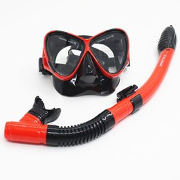 Wholesale Diving Breathing - Wholesale- Summer Diving Glasses Goggles with Breathing Tube Tempered Glass Full Dry Diving Swimming Snorkeling Mask
