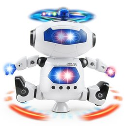 Wholesale led lights shoelace - Electric Toys Dance Rotating Robot with LED Lights Music Explosion Intelligence Toy with Battery Powered Direct Shenzhen China Wholesales