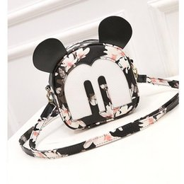 Wholesale Japanese School Bag Wholesale - Wholesale- japanese backpacks with ears women's bag Korean Mouse Mickey shoulder bag women's small backpack school bag leather backpack