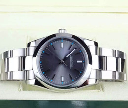 Wholesale Mechanical Binger - High Quality 39mm Date Steel Gray Dial 114300 Mechanical Automatic Mens Watch Watches