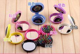 Wholesale Discount Sd Cards - Factory direct hair curled hair comb comb folding comb rainbow massage hairdressing card big discount SD 017