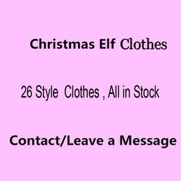 Wholesale Doll Clothes Toy - Free DHL 26 Style Elf Doll clothes Christmas Elf Plush toys On The Shelf Elves Xmas dolls clothes For Kids Holiday And Christmas Gift