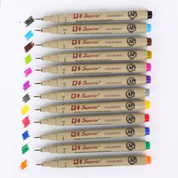 Wholesale Micron Pen Set - 12PCS 12 Color Needle Micron Drawing Pen Set for Sketch Art Markers Copic Marker Felt Tip Pen office School Supplies