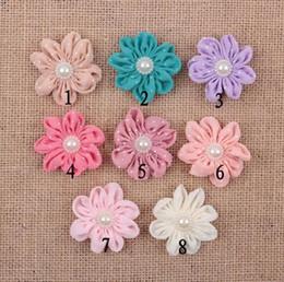 2019 fiori di panno fatte a mano 5 cm fai da te accessori artigianali copricapo dot chiffon fatti a mano corpetto fiori in stoffa YH473 fiori di panno fatte a mano economici