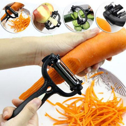 Wholesale Potato Peeler Wholesalers - Creative 3 in1 Multifunctional 360 Degree Rotary Carrot Potato Peeler Slicer Cutter Kitchen Tools CCA6489 200pcs