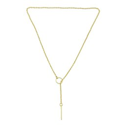 Wholesale Necklace Pendant Designs - New Fashion Necklace Jewelry Gold Silver Plated Long Chain Necklaces and Latest Design Y-Necklaces for Women