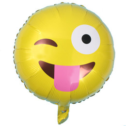 Balões Emoji Folha Balões De Alumínio De Hélio Decoração Do Partido Balão De Casamento Inflável Feriado Aniversário Festa De Casamento De Formatura Brinquedos de Fornecedores de lanternas de papel a pilhas por atacado