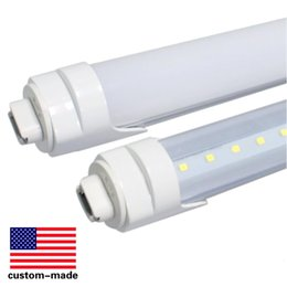 Wholesale T8 38w Lamp - T8 led tube light R17D 8ft 38W 2.4m 2400mm Fluorescent Lamp Rotating smd2835 192leds 4800lm AC85-265V single pin clear frosted cover