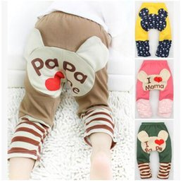 Wholesale Open Leggings Crotch - 5 Colors Spring Popular Baby infant cute leggings Pants Baby Girls Boys Leggings PP Pants Wear open crotch Children's kids Leggings Tights