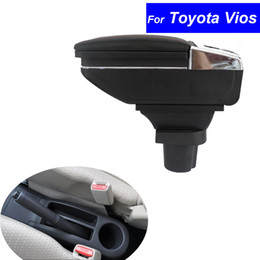 Wholesale Toyota Accessories Free Shipping - Leather Car Center Console Armrest Box for Toyota Vios 2002 2003 2004 2005 2006 2007 2008 Armrests Auto Accessories Free Shipping