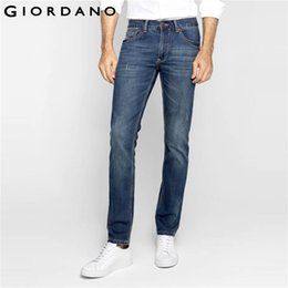 Wholesale Vintage Colored Pencils - Wholesale-Giordano Men Jeans Denim Pants Whiskering Jean Trousers Vintage Style Pants Fashion Brand Clothing Homme Marque Masculina