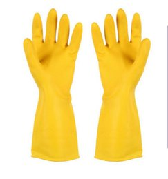 Wholesale Wholesale Waterproof Winter Gloves - High Quality Practical Winter Warm Kitchen Wash Dishes Cleaning Waterproof Long Sleeve Rubber Latex Gloves Tool Laundry Housework gloves