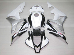 Wholesale Cbr Body Parts - Injection body parts fairing kit for Honda CBR600RR 07 08 white silver black fairings set CBR 600RR 2007 2008 YT36