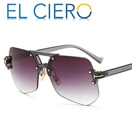 f71f969ff84 EL CIERO High Quality Fashion Sun Glasses For Men   Women Designer  Sunglasses Rimless Glasses Modern Stylish Pilot Shades Eyewear UV400