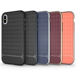 Wholesale iphone silver bumper - For Iphone x Case 2in1 Hybrid Soft TPU Hard PC Bumper Back Cover For iphone x 8 8plus