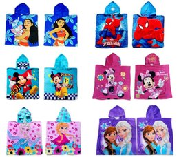 Wholesale Swimming Robes - Kids Robes Moana Cloak Towels Boys Girls Cartoon Pattern Bath Towel Kids Cartoon Printed Towels For Swimming 60*120cm